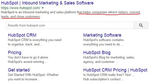 Hubspot meta description
