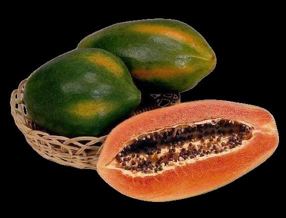 papaya in a basket